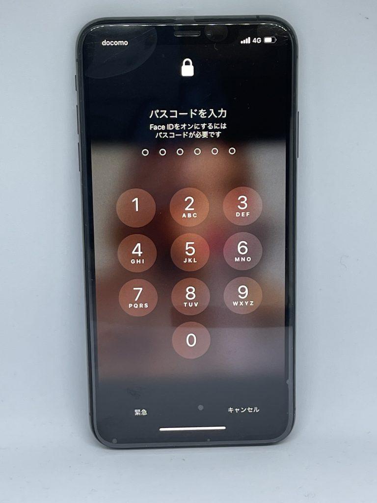 iPhoneXSMax 液晶交換修理後